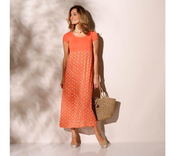 Dlouhé šaty ze dvou materiálů | vyprodej-slevy.cz #vyprodejslevy #vyprodejslecycz #vyprodejslevy_cz #saty #dress