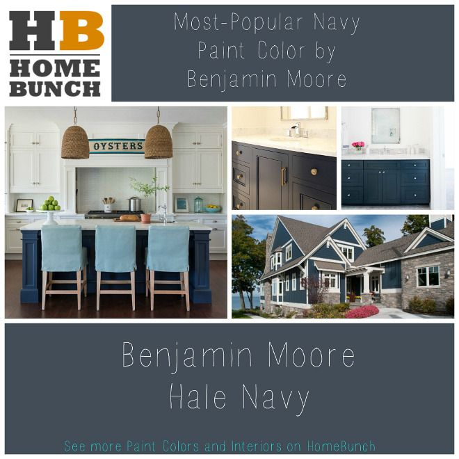 Most Popular Navy Paint Color By Benjamin Moore Paint Colors And Color Palettes Most Popular Navy Paint Color By Benjamin Moore Via Homebunch