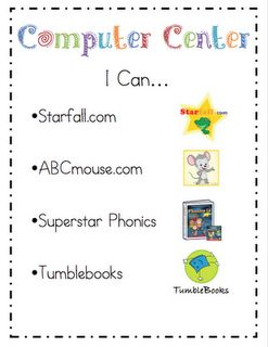 Computer website list for classroom.: Idea, Literacy Centers, For Kids, Ricca Kindergarten, Computers Center, Cards Freebies, Kindergarten Literacy Center, Poster, Education Website