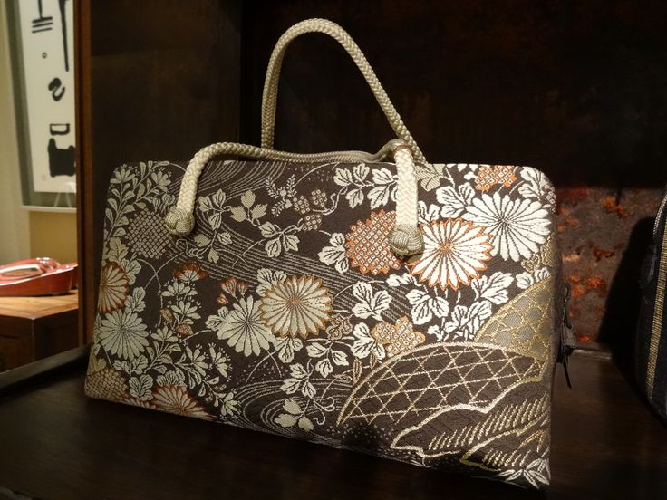 Japanese purse made with hand woven textile.