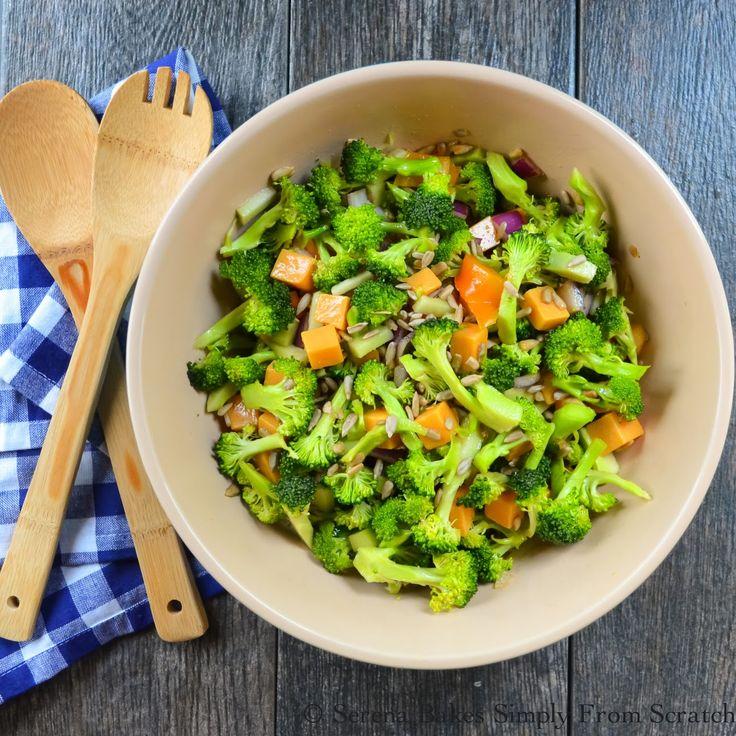 Broccoli Salad a light healthy salad in a sesame vinaigrette.