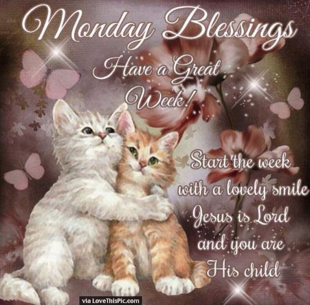Monday Blessings Have A Great Week Start Your Week With A Smile