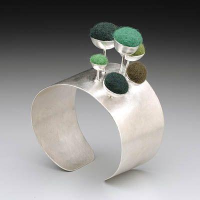 Sarah Fox Design....she creates jewelry that celebrates textile and texture.