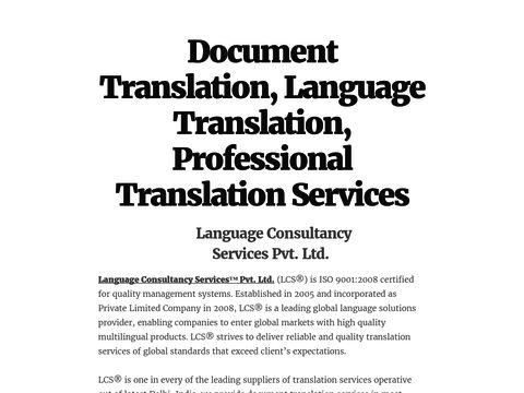 Document Translation, Language Translation, Professional Translation Services