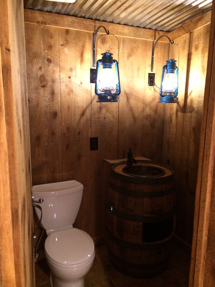 Rustic Basement Powder Room Home Sweet Home Small