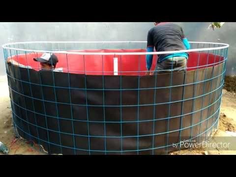 Cara dan Tahapan Pembuatan Kolam Bundar dan Hidroponik Di Surakarta - YouTube