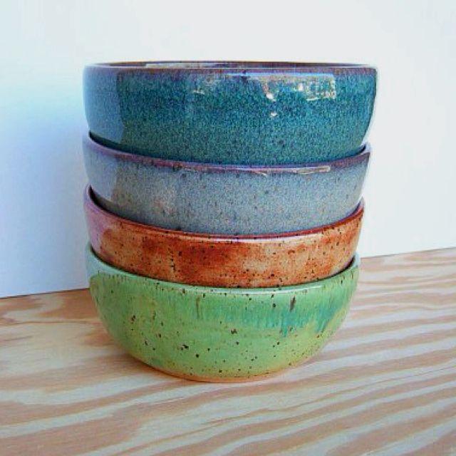 Pottery bowls LOVE