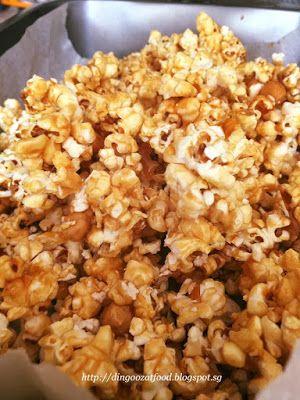 Miki's Food Archives : Crispy Caramel Popcorn (Stove Top Popcorn, no bake...