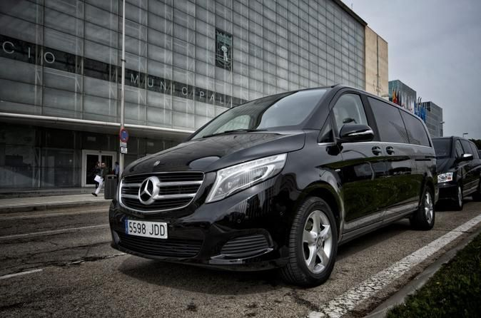 Luxury Van Transfer from Madrid City, Avila or Toledo to Madrid Airport Enjoy your trip from Madrid City, Toledo City or Avila City to Madrid Adolfo Suaraz Airport in a private vehicle with a English-speaking driver. Elegant Mercedes-Benz Luxury Van will be provided with water for all the passengers .Enjoy a comfortable and a private transfer from Madrid City, Toledo City or Avila City to Madrid Airport in an elegant and fully equipped Mercedes Benz V/ Viano vehicle.Your know...
