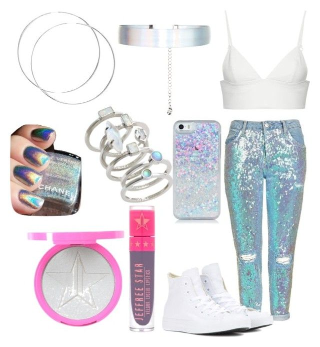 """Unicorn"" by danielle-bell-i on Polyvore featuring Topshop, T By Alexander Wang, Converse, Accessorize, Jeffree Star, Kendra Scott and Chanel"