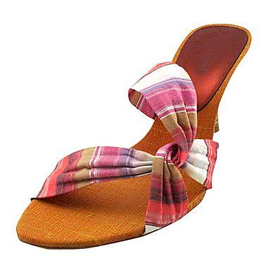 Mujeres de Denim Stiletto Sandalias de tacón Zapatos de diapositivas - CLP $ 11.895