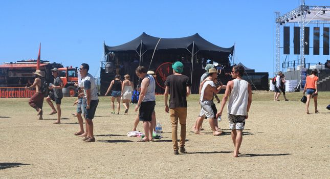 RHI Stretch Tents at Rocking the Daisies 2014: The famous black Jagermeister tent.