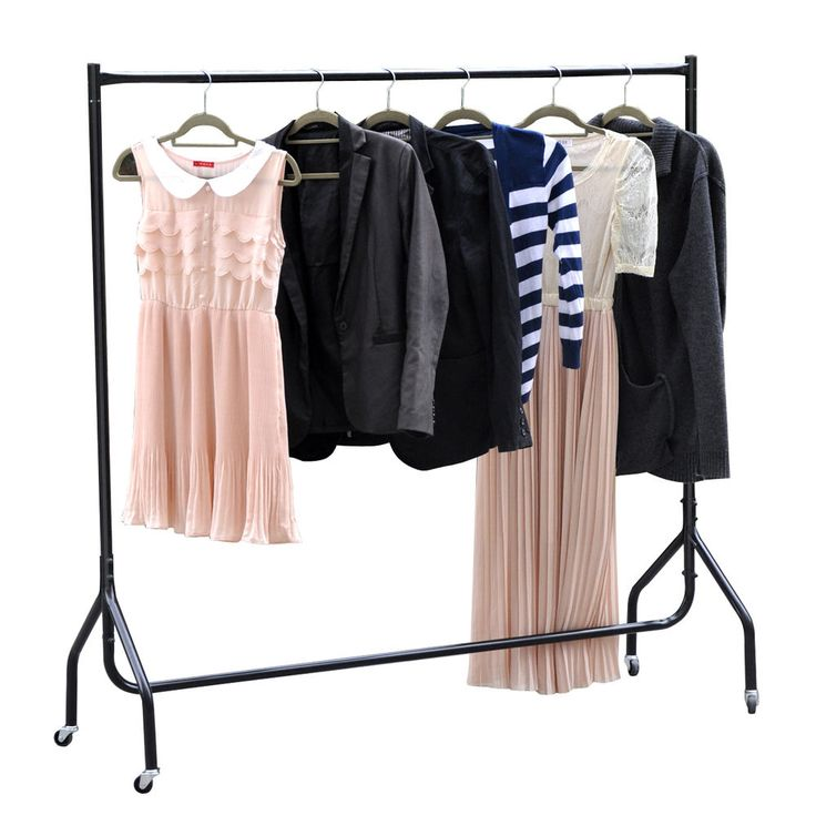heavy duty clothes rail portable dress hanging rack retail display stand new 6ft - Clothes Hanger Rack