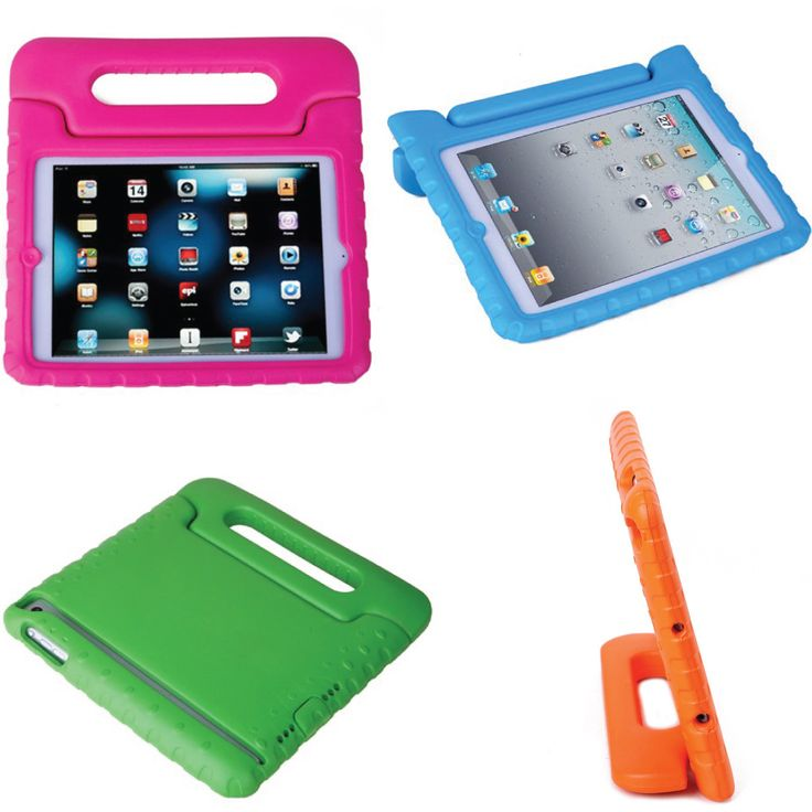 Foam Shell Kid Case for iPad Mini 1-2-3. Available in Blue, Green, Orange & Pink.