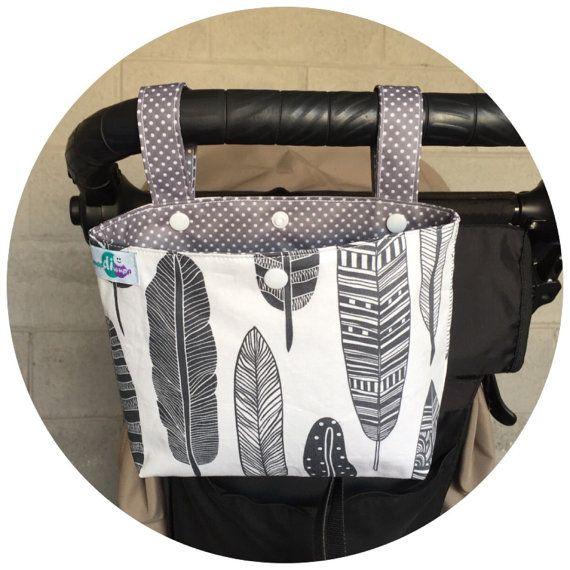 Pram caddy / pram organiser / stroller bag by schwuppdiwupp