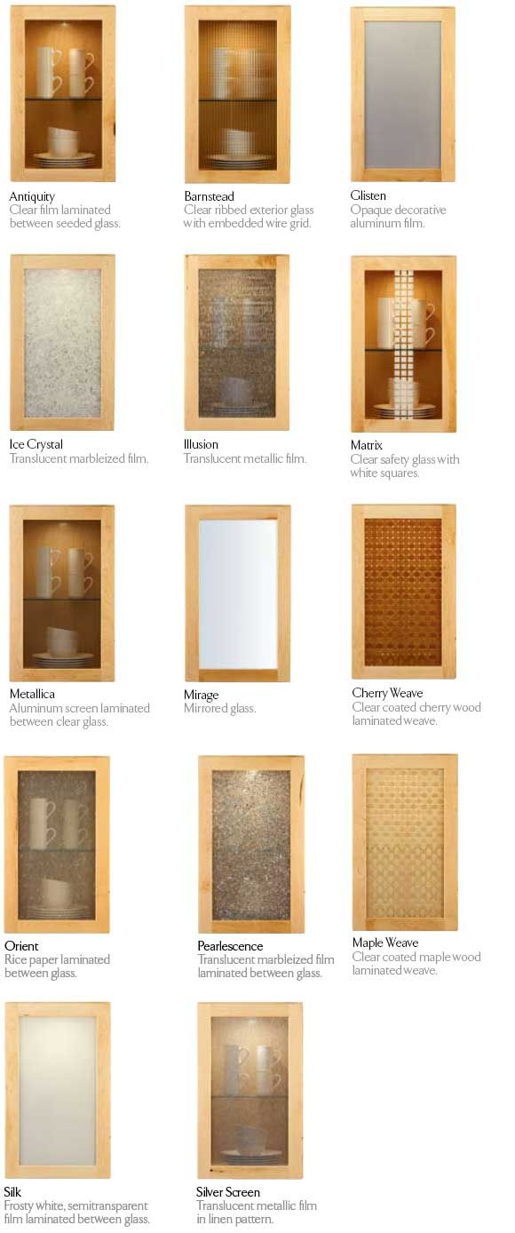 Decorative Glass Panels For Cabinets | KraftMaid Glass Doors Part 77