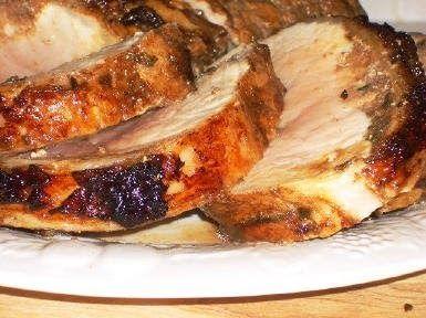Rotisserie Pork Roast with Rosemary, Garlic, and Balsamic Vinegar