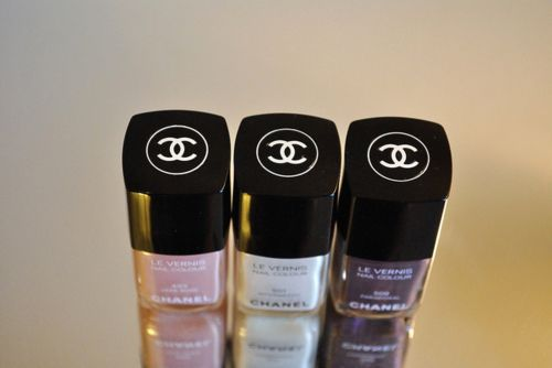 Pretty nail polish colors from Chanel.