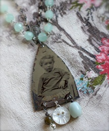 love the tin type!: Jewelry Inspiration, Button, Secret Ideaa, Adornment, Jewelry Ideas, Charm Necklaces