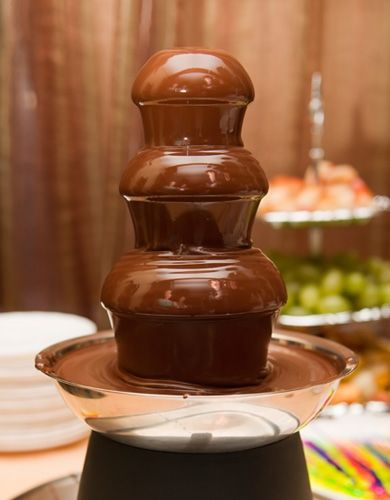Tips & Tricks for using a chocolate fountain - never use it outside.  there's nothing worse than a wind blowing chocolate rain onto your guests