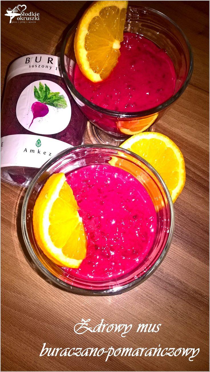 Zdrowy mus buraczano-pomarańczowy (słodki)