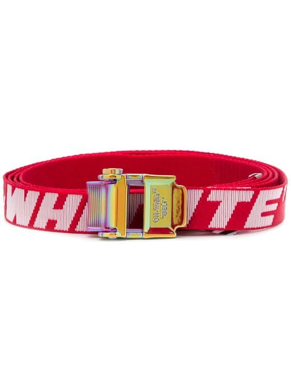 Off White 2 0 Industrial Belt In 2020 Off White Belt Red