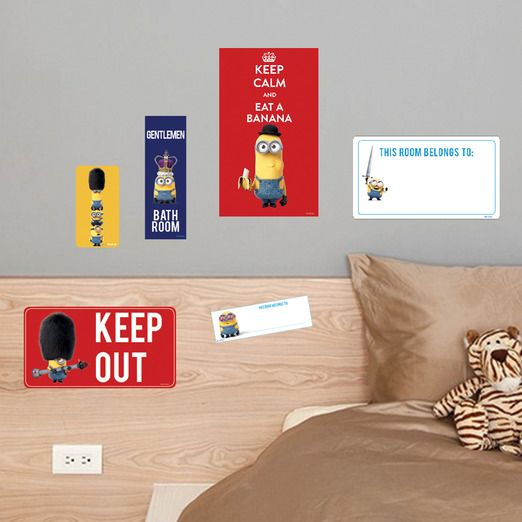 Minions decor for the boys room - Keep out!