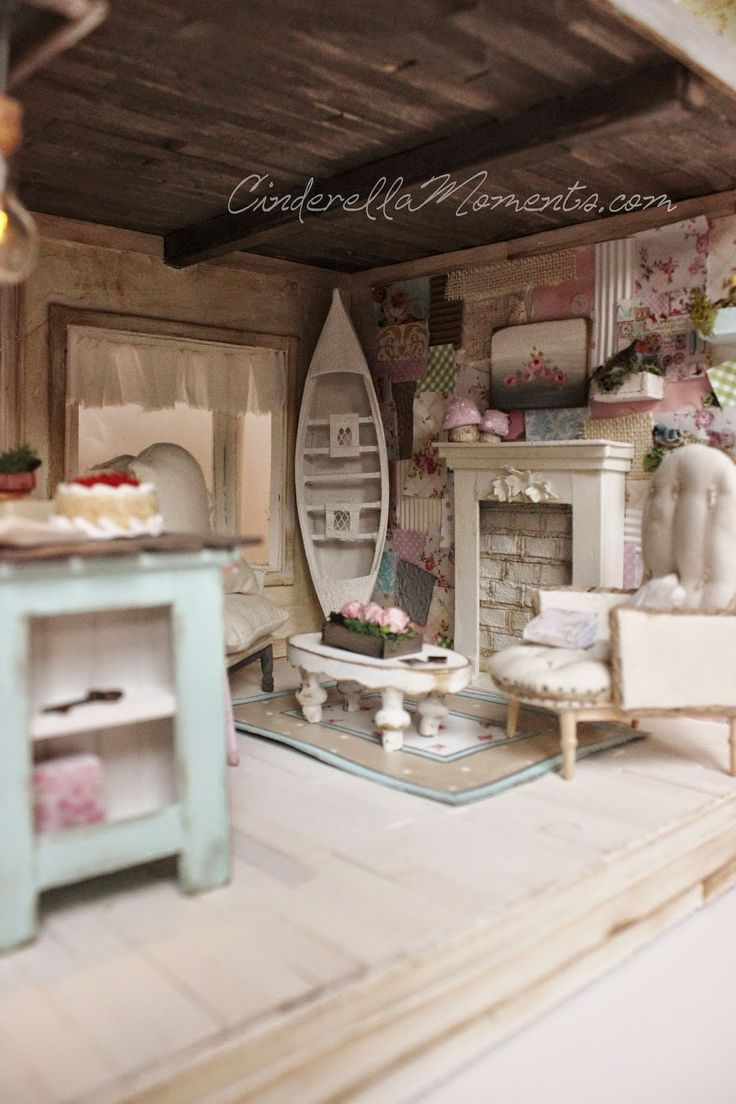 Designer dioramas miniature rooms - Cinderella Moments At Home With Francesca Darby Dollhouse