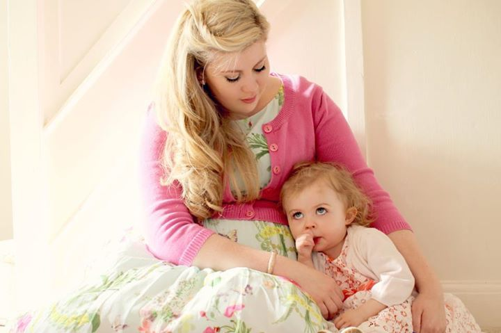 Louise (a.k.a SprinkleofGlitter) with  her little daughter, Darcy! They are so adorable!
