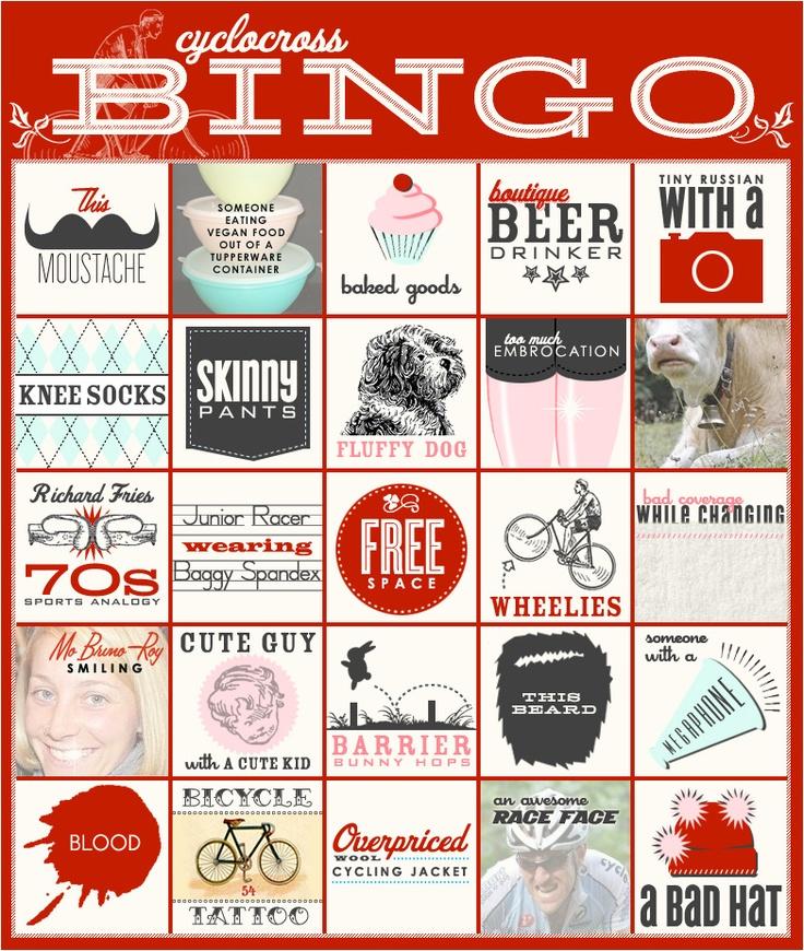 cyclocross bingo - hahahaahaha