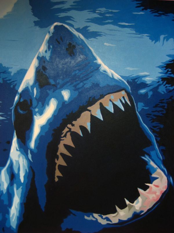 Image detail for -Shark Pop Art Painting - Oil Painting on Canvas