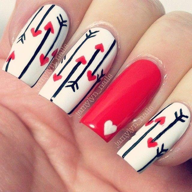 Cute love! [ #nails #desing #uñas #cute #love #followforfollow #likeforlike ]…