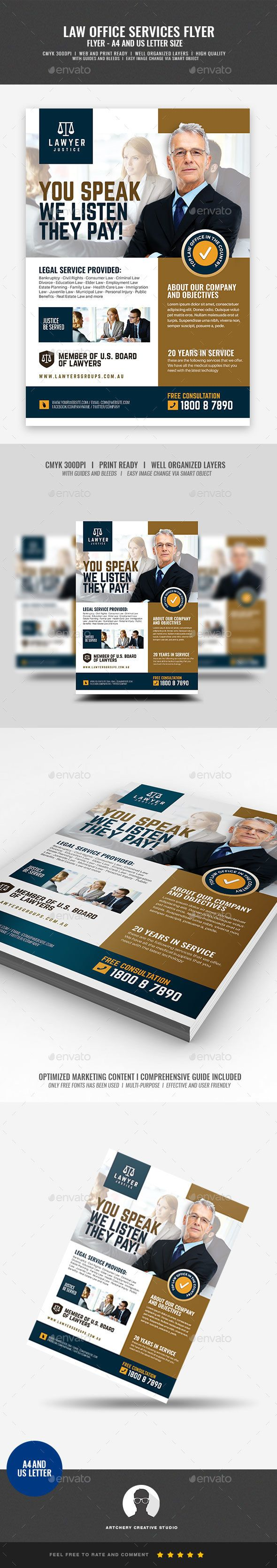 Law Firm and Legal Services Flyer #legal #bar exam  • Download here → https://graphicriver.net/item/law-firm-and-legal-services-flyer/21276872?ref=pxcr