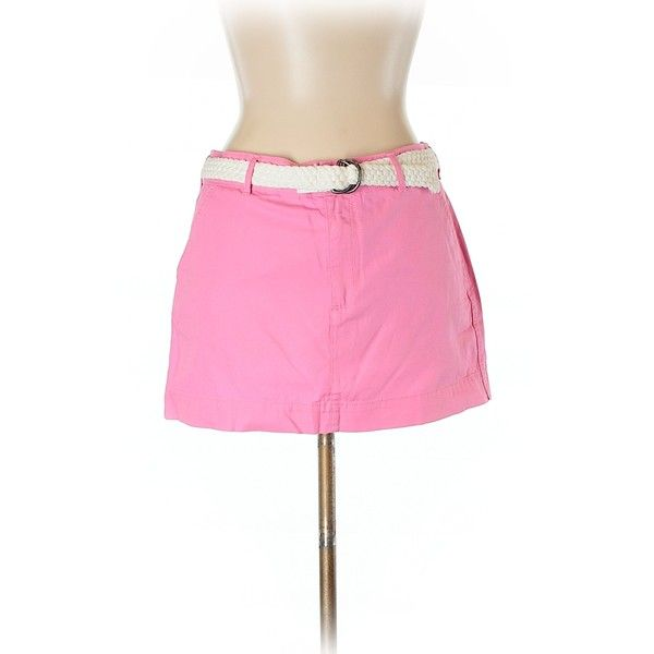 Abercrombie & Fitch Casual Skirt ($11) ❤ liked on Polyvore featuring skirts, light pink, abercrombie fitch skirt, light pink skirt, pink skirt and cotton skirts