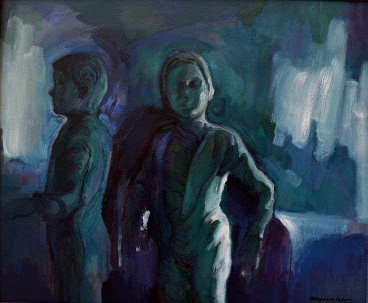 Sombras vivas III, óleo-lienzo, 60x73 cm.