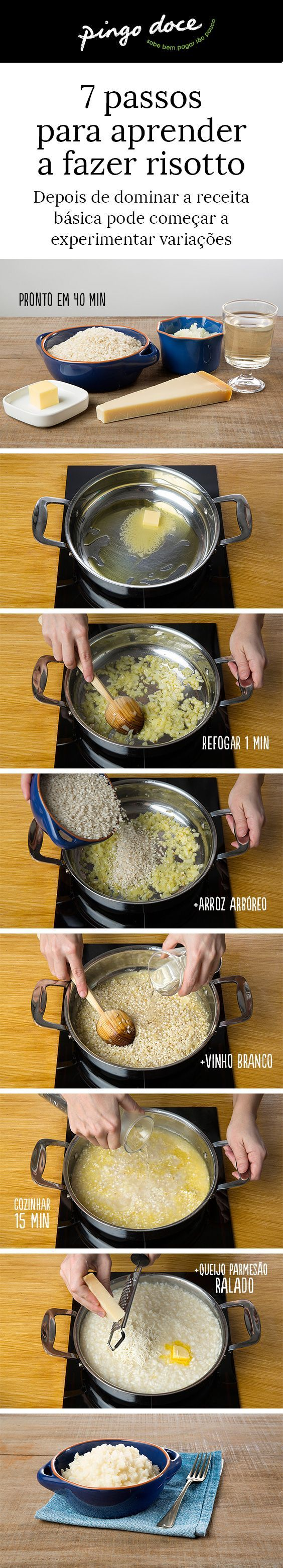 ^^  Veja o nosso passo-a-passo e saiba como fazer um risotto básico.
