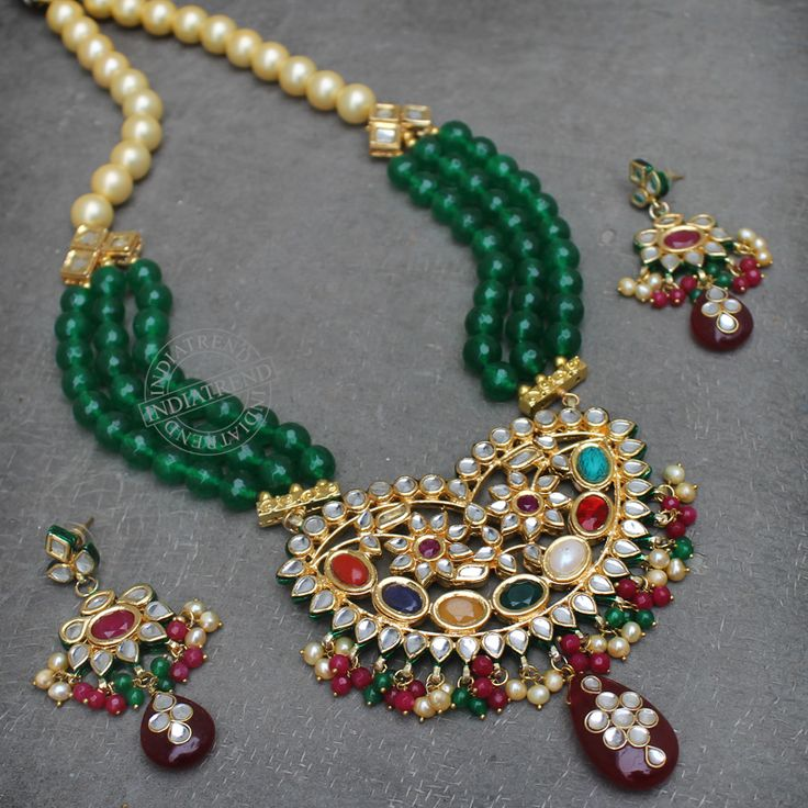 Sharleen Necklace + Earrings by Indiatrend. Shop Now at WWW.INDIATRENDSHOP.COM