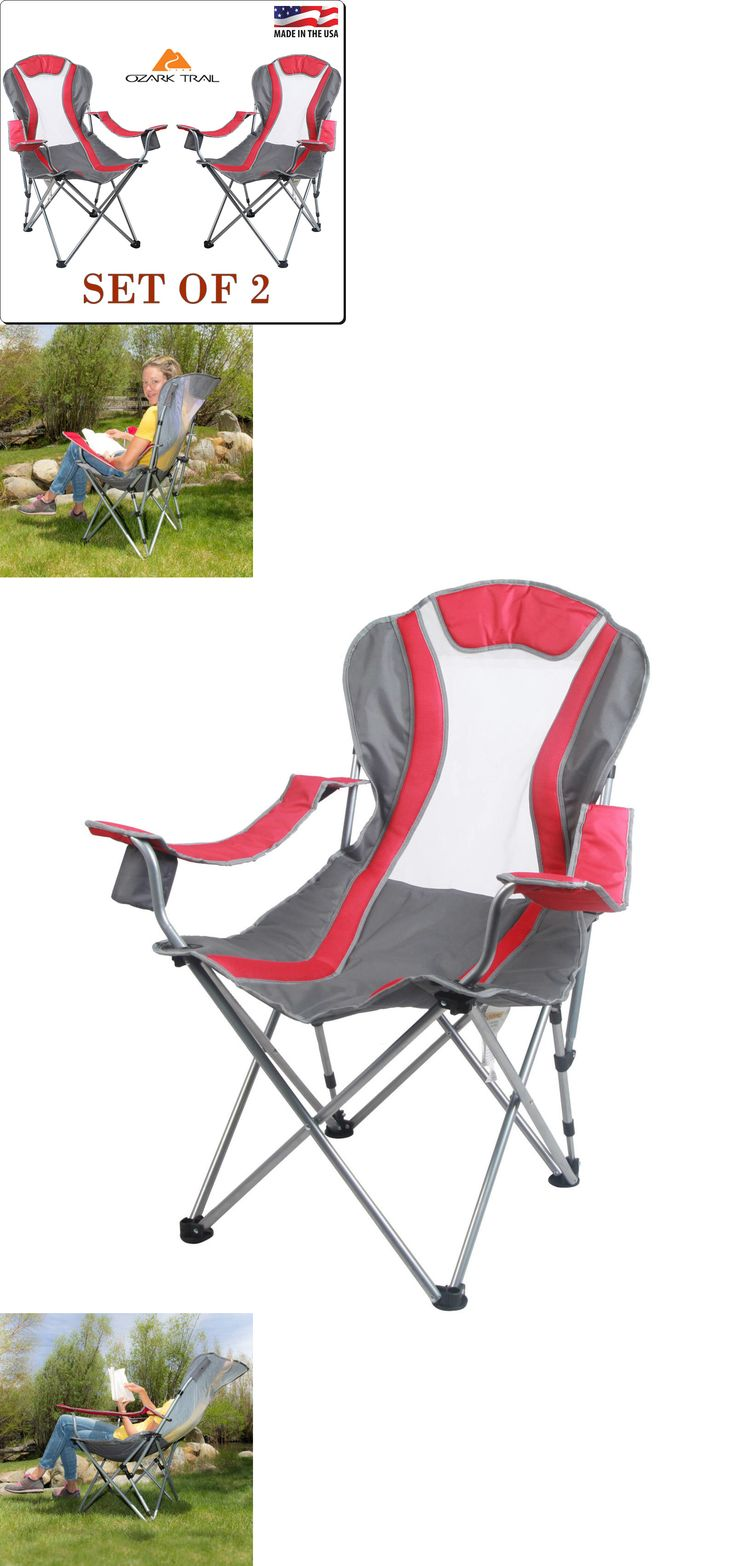 Camping Furniture 16038: Outdoor Folding Chair Reclining 2-Position With Carry Bag Set Of 2 Camping Seat -> BUY IT NOW ONLY: $56.49 on eBay!