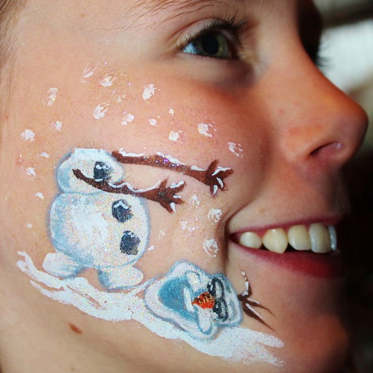 Frozen facepaint olaf yc art facepaint pinterest for Frozen face paint