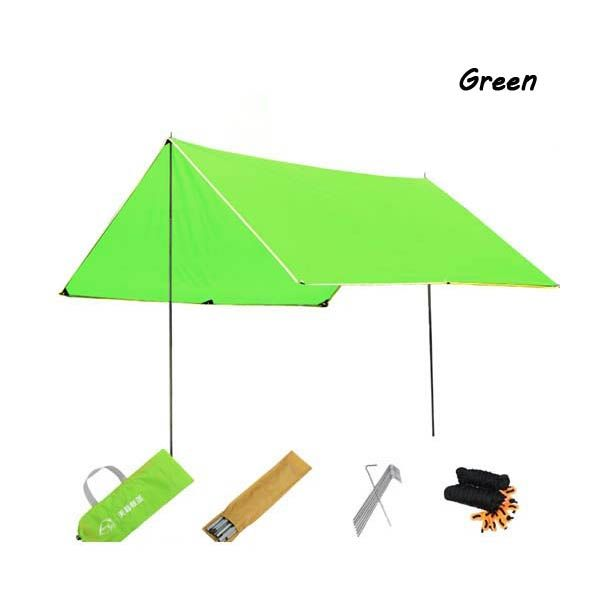 $38.5 Best Lightweight Hiking Shade Canopy Shelter Camping Picnic Bench Sun Rain Covers Outdoor Portable Canopies- Green
