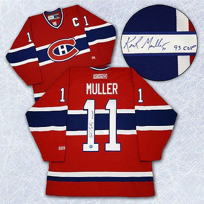 Kirk Muller Montreal Canadians Autographed Retro CCM Hockey Jersey