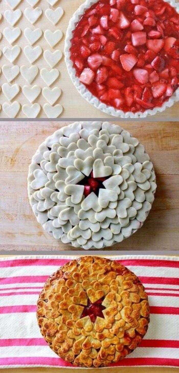 De hartjes maken de taart nét ff iets leuker;)