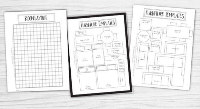fabulous living room furniture template | Free Printable Room Planner | Sunroom | Apartment ...