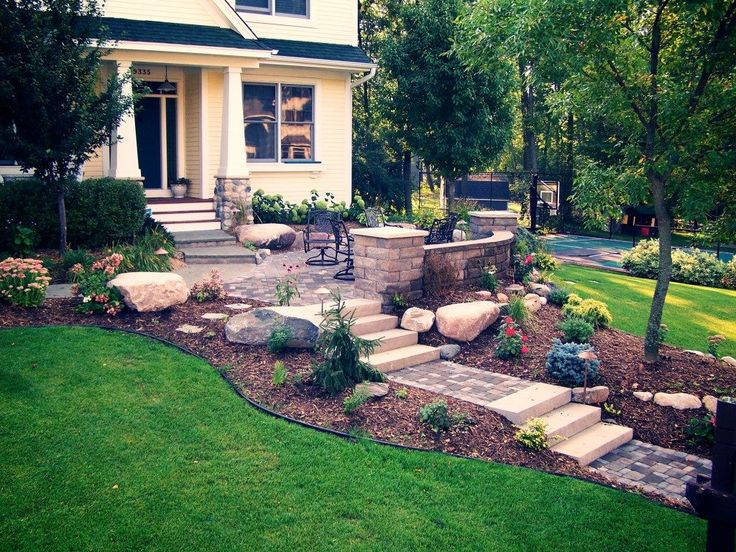 frontyard garden  small front yard steps ideas landscape designs for slopes