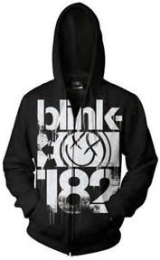 Blink 182 3 Bars Hoodie featuring a large 3 bars design covering the front of the hoodie.