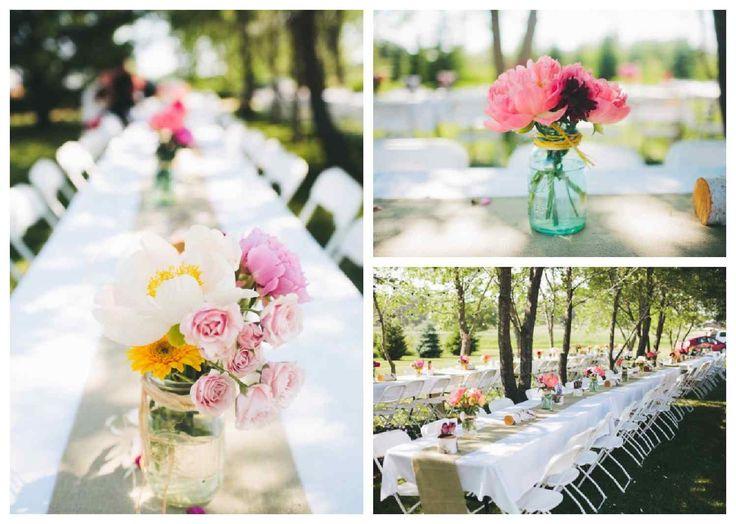 déco de table mariage chic avec des fleurs