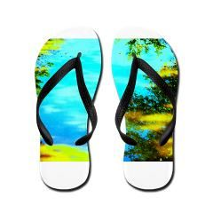 Beautiful summer day Flip Flops