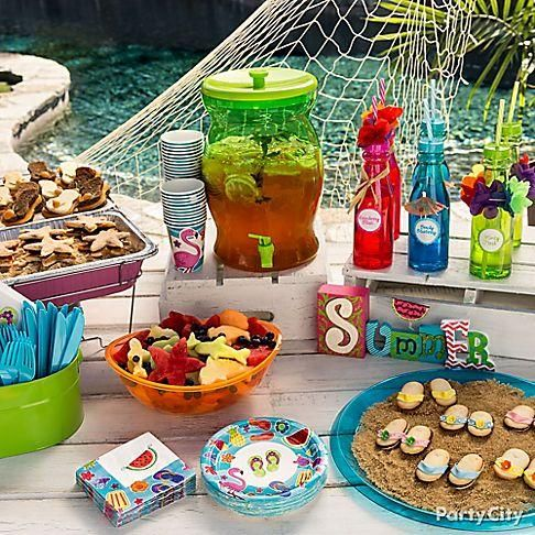Beat The Summer Heat With A Poolside Buffet Click Through