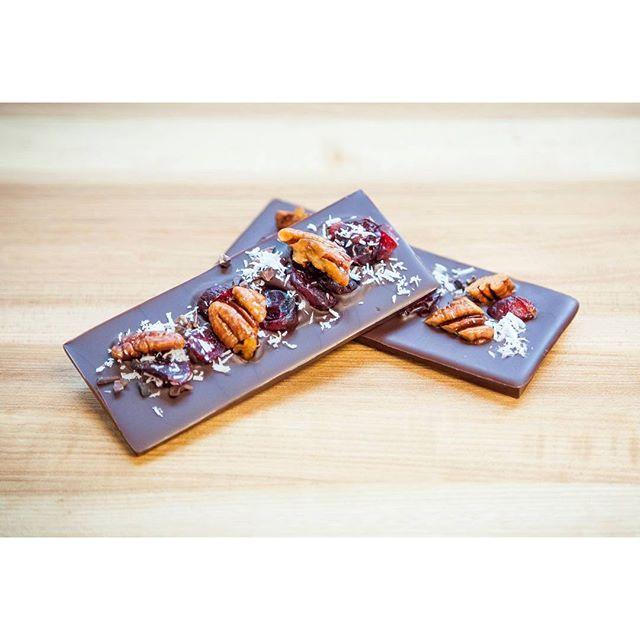 Chocolate bonbon and nuts made at l'Ecole Valrhona Brooklyn
