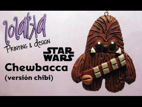 FACIL - EASY - DIY Tutorial Polymer Clay Chewbacca - Chubaca (Chibi Version) - YouTube